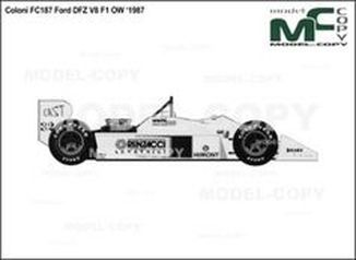 Coloni FC187 Ford DFZ V8 F1 OW '1987 - drawing
