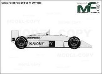 Coloni FC188 Ford DFZ V8 F1 OW '1988 - drawing