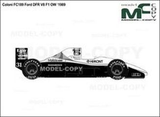 Coloni FC189 Ford DFR V8 F1 OW '1989 - drawing