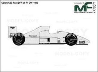 Coloni C3C Ford DFR V8 F1 OW '1990 - drawing