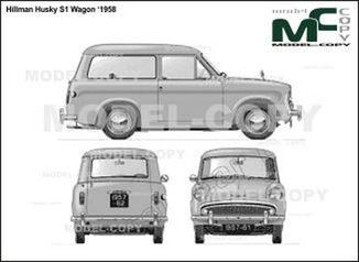 Hillman Husky S1 Wagon '1958 - drawing