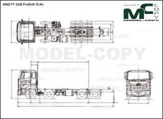 HINO FY 3248 ProShift 16 Air - Disegno 2D