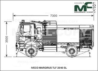 IVECO-MAGIRUS TLF 20/40 SL - drawing