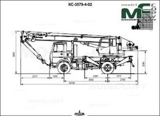 Crane KS-3579-4-02 (MAZ-5337A2-0000346) - drawing