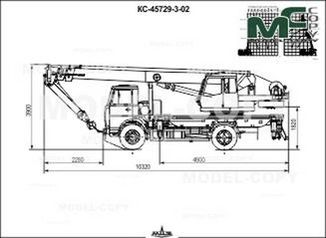 Crane KS-45729-3-02 (MAZ-533731-0000380R1) - drawing