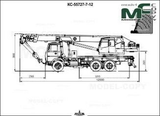 Crane KS-55727-7-12 (MAZ-6303A3-0000347) - drawing