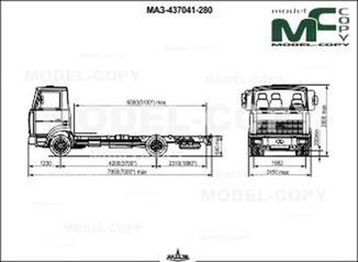 MAZ-437041-280 chassis - drawing