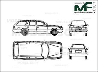 Mercedes-Benz 200 TE - drawing
