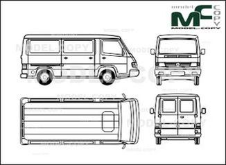 Mercedes-Benz 100 D, box, short - drawing