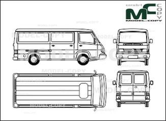 Mercedes-Benz 100 D box, long - drawing