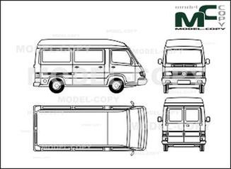 Mercedes-Benz 100 D box, high roof, short - drawing