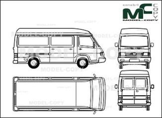 Mercedes-Benz 100 D box, high roof, long - drawing