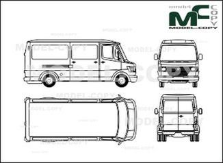 Mercedes-Benz 208 D / 210 D / 210 box, long - drawing