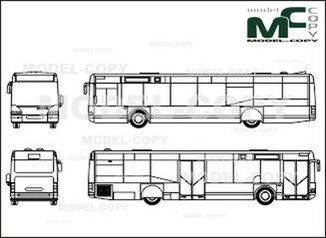 Neoplan Centroliner N 4416 (2doors) - drawing
