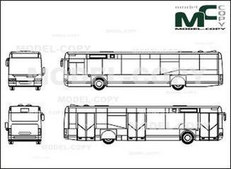 Neoplan Centroliner N 4416 (3doors) - drawing