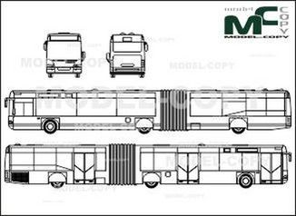 Neoplan Centroliner N 4421 (3 doors) - drawing