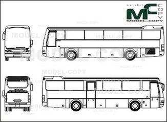 Neoplan Euroliner 3316 K - drawing
