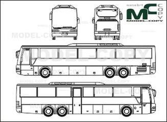 Neoplan Euroliner N 316 K-L, 52 seatings - drawing