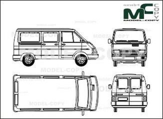 Opel Arena Combi, 5-doors - drawing