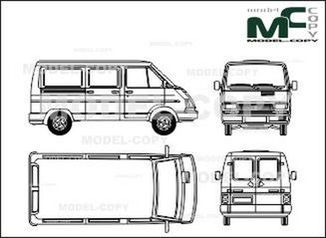 Opel Arena Combi (2 sliding doors) - drawing