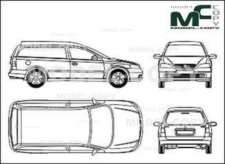 Opel Astra B Van, 3-doors - drawing
