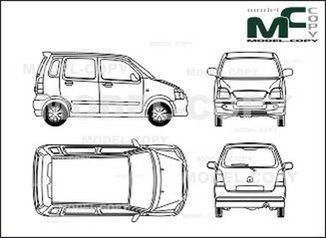 Opel Agila - drawing