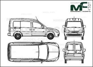 Opel Combo box car (Comfort), 1 sliding door (2001) (Series modification. Comfort) - drawing